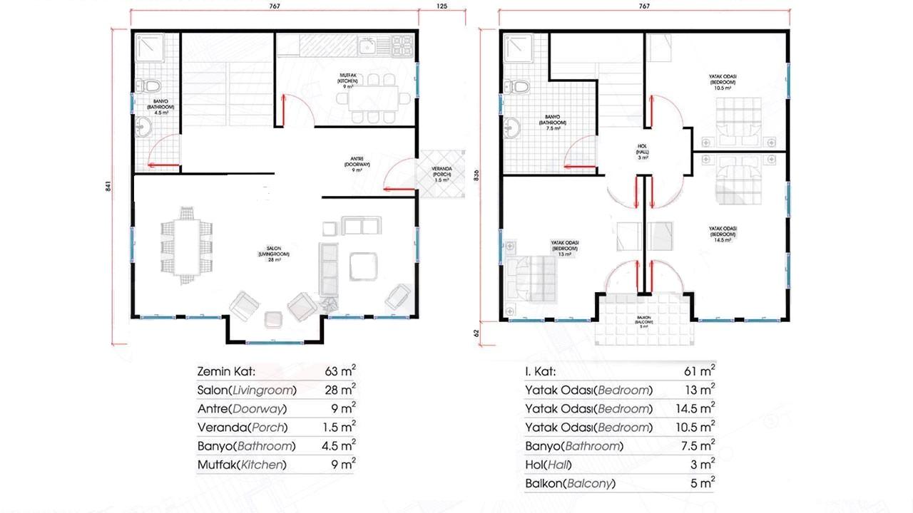 124-m2-2-katli-prefabrik-ev