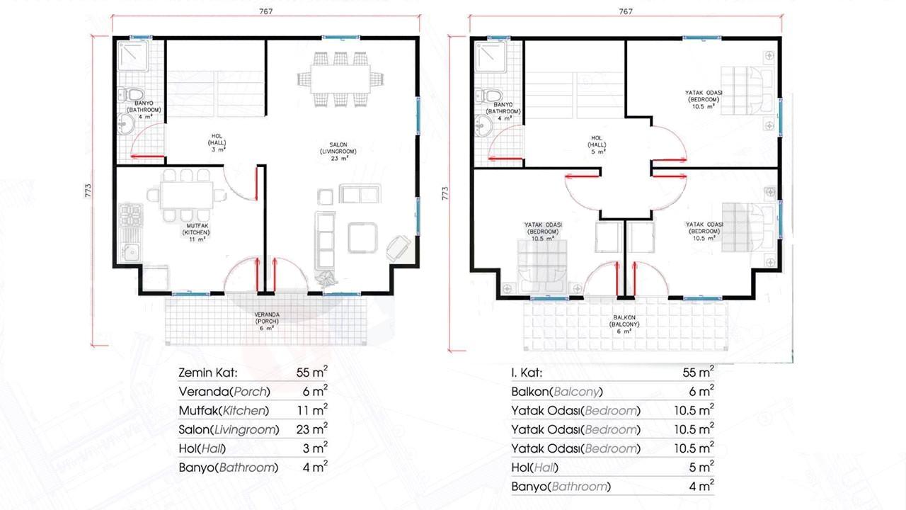 110-m2-2-katli-prefabrik-ev