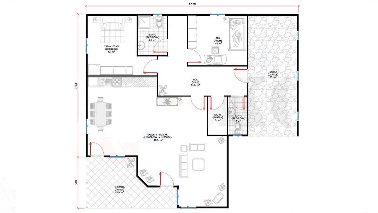 136-m2-tek-katli-prefabrik-ev